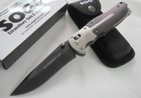 Folding Blade antler knifes - SOG Shaft lock jackknife antler handle cr13mov HRC hunting Tactical knives freeshipping