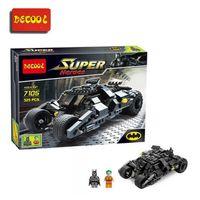 batman batmobile toys - Decool The Avenger Super Heroes Building Blocks Batman The Tumbler Batmobile Batwing Joker minifigures kids Toys Legominifigure bricks