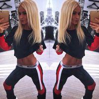 adult ruffle pants - 2015 New Women Tracksuit Hoodies Sweatshirt Pants Set Sport Wear Casual Suit UK