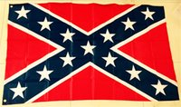 Wholesale DHL Hot sale Two Sides Printed confederate Flag National Polyester Flag X FT Confederate Rebel Civil War Flag