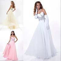 Wholesale Custom Made Fancy Lady Evening Gowns A Line Beaded Sweetheart Full Length Zipper Back Made In China Formals Prom Dresses VT