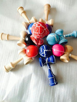 Wholesale 18 CM strings crack ball Kendama Ball Japanese Traditional Wood Game Toy Education Gifts Hot Sale colors