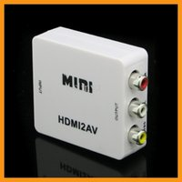 Wholesale Mini HD Converter Box HDMI to RCA Composite AV CVBS L R Video Adapter P