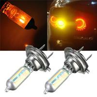best blue headlights - Best Promotion H7 W Xenon Halogen Bulb Car Auto Headlight Light Lamp Bulb Rainbow Blue Yellow White DC12V order lt no track