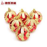 ball hong kong - Factory Hong Kong Hang Christmas tree ornament cm gold plating red diamond glitter Christmas balls installed g Christmas Gi