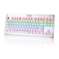 Wholesale KKMOON Professional Gaming Esport Mechanical Keyboard with Tactile High speed Keys Suspended Anti Ghosting Colorful LED C2423