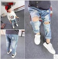 baby pants washing - Fashion Kids Boys Denim Pants Baby Boy Wash Blue Hallow Out Jeans Babies Korean Style Clothing Boy Clothes