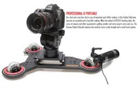 camera slider - Konova Radial Wheel Dolly Slider with Basic Controller Kit for Curve and Straight Shooting compatible with DSLR Camera