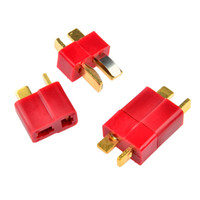 Wholesale 10 Pairs Ultra T Plug Connectors Deans Style For RC LiPo Battery Male and Female Shrink Tubing Pack Set