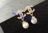 Wholesale Fashion Brand Shining Pearl Earrings Charm Jewelry