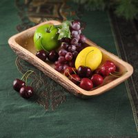 Wholesale Thailand home wood carving Creative Environmental dried fruit plate fruit plate fruit bowl decorated retro Southeast Asia