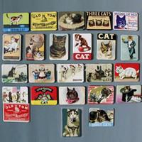 Wholesale HOT fridge magnet Home Decor Animal Soft kitty lovely cat Adorable Zoo Felinae Gato refrigerator sticker gift BXT01