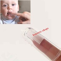 Wholesale Brand new Silicone Soft Finger Toothbrush Teeth Rubber Clean Massage Brush For Baby Infant Hot Sale Teeth Brush High Quality Teeth Cleaner