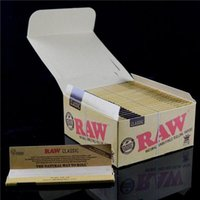 Cheap Unrefined Classic RAW Rolling Papers King Size Purest Natural Fiber Raw Papers 4*2 inch Tobacco Rolling Papers 50booklets lot Smoking Paper