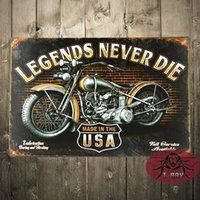 art dying - Legends never die wall sticker Art wall decor House Cafe Bar Vintage tin signs Mix order