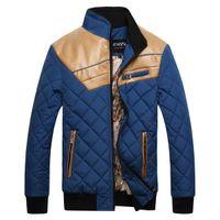 leather coat men - Delicate Design Man Thick Warm Coats Plus Size Good Quality Leather Patchwork Men Winter Fashion Down Jackets