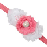 Wholesale Newly Design Infant Baby Girls Flower Rhinestone Headbands Elastic Headwear Aug17