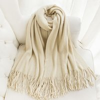 Wholesale Treasurer recommended Ms fringed scarves wool scarves Korean autumn and winter warm long scarf male couple models