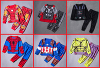 age worsted - 2016 cartoon boy tracksuit Spider Man aged cheap baby suit long sleeve pants children clothes spring autumn set A24