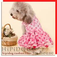 Wholesale 3 skirt pet the bride wedding dress puff skirt princess dress dog clothes teddy dogs summer