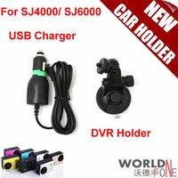 Wholesale Car Holder for Sport DV Sport Camera SJCAM SJ4000 SJ6000 Window Mount DVR Holders USB Charger