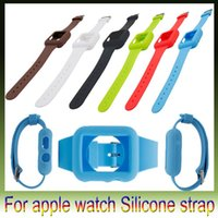 Wholesale New Apple watch Silicone cases Straps watchband Wrist Watches Band case cover skin wristbands bracelets for iwatch smart watches mm mm
