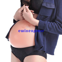baby bump - Film and television props supplies G Silicone Quadruplets False Belly Baby Tummy False Pregnant Artificial Bump