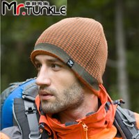Wholesale 1pcs Mens Winter fall cap Set of head Hat outdoor sports beanie hats skiing man keep warm protecting hats New Knit wool hats hot