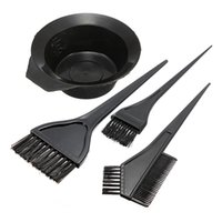 Wholesale 4 Black Pro Salon Hairdresser Hair Dryer Color Bowl Comb Coloring Kit Set Tint Styling Tools