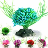 aquarium background plants - Artificial Water Green Plant Grass For Aquarium Fish Tank Plastic Decor Ornament
