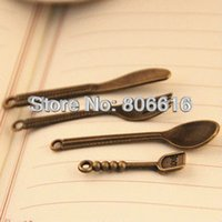 bead cutlery - quot Cutlery Fork Spoon quot Mix pack Antique Bronze Alloy Charms Pendants Beads Making Jewelry Accessories Findings