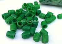 Wholesale green color plastic Car Tyre Tire wheel Valve Cap polybag air dust cap stem Promotion cost