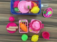 Wholesale 11pcs a set DIY cooking cutting fruits vegetables Children Kids Baby Early Educational Classic Toy Pretend Play Kitchen Food Plastic Toy