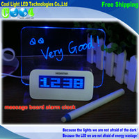 art message boards - led Luminous Message Board Alarm Clock LED Digital Clock With Calendar Desktop gift Clocks