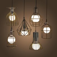Wholesale NEW Vintage Iron Pendant Light Industrial Loft Retro Droplight Bar Cafe Bedroom Restaurant American Country Style Hanging Lamp