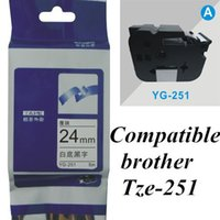 printer ribbon - tze251 tz251 mm black on white TZe brother Label Tape Compatible for Brother P Touch brother printer ribbons label maker labelling