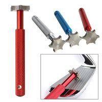 Wholesale DHL Golf Groove Tool Golf Iron Wedge Club Groove Sharpener Cleaner Golf Club Clear Tool V U blade With Retail Box