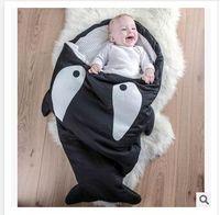 Wholesale Cartoon Shark Baby Sleeping Bags Winter Strollers Bed Swaddle Blanket Wrap cute Bedding baby sleeping bag Dhgate A00512
