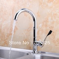 ad handles - Good Quailty Single Handle Hot amp Cold Stream Chrome Finish Kitchen Basin amp Sink Mixer Tap Brass Faucet AD