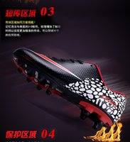 Wholesale Men s football shoes assassin TF flat ground nailed bee training shoes sneakers poison long outdoor ball