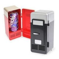 beer freezer - High Quality MINI Freezer Portable USB PC Fridge Car Refrigerator Heater Beer Juice Warmer Cooler