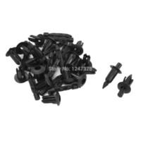 Wholesale 6mm Fit Hole Diameter Auto Car Black Door Fender Plastic Rivets Screw Fasteners