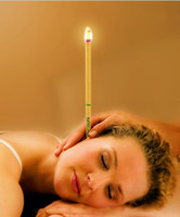 Wholesale Natural Coning Beewax Ear Candling one MIX Thermo Auricular Therapy Straight Style Ear Care Ear Candle