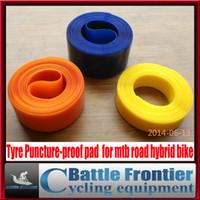 2 pcs nouveau pneu professionnel de bicyclette revêtement de protection de pneu de courroie de preuve de piqûre pour le vélo hybride de route de montagne de mtb 24