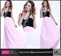 black and pink prom dress - Cheap Black and Pink Prom Dresses Chiffon Long One Shoulder Beaded Prom Gown Beaded Elegant Evening Dresses A Line Bridesmaid Dress