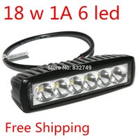Cheap New 18 W LED Light Bar car-styling Indicators Daytime Running Lights LED Boat Car Truck 6 LED order<$18no track