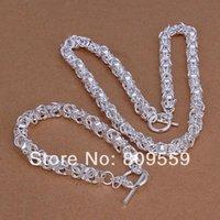 bibcock - silver fashion bibcock TO men s charm necklace amp bracelets set pendant set Factory lowest price