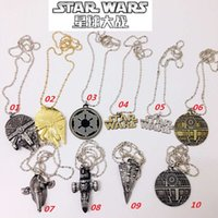 Wholesale 2016 New Star Wars Spacecraft Warships Pendant Necklace Metal Cosplay Necklace