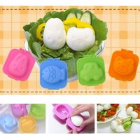 Wholesale 6 DIY Cooking Tools Boiled Egg Sushi Rice Mold Bento Maker Sandwich Cutter Decorating Mould ZH085