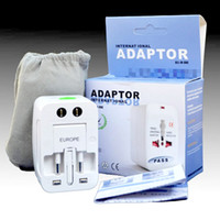Wholesale Multi outlet Adaptor Comverter Universal All in Travel Electrical Power Adapter Plug US UK AU EU Socket D88